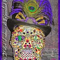 Voodoo Gemstone Skulls and Sacred Voodoo Jeweled Altar Art Voodoo Dolls and Precious Gemstone Voodoo Skulls for Baron Samedi at Erzulie's Authentic Voodoo