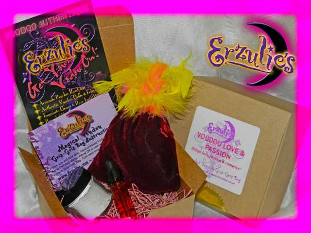 Voodoo Spells and Voodoo Gris-Gris Bags ~ Magical Mojo Voodoo Gris-Gris Bags for Love Spells, Passion Spells and Romance Spells