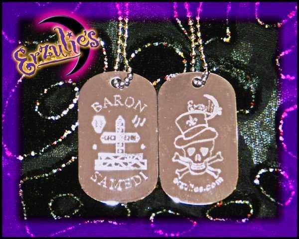 Voodoo Veve Jewelry ~ Voodoo Bling Dogtags Series