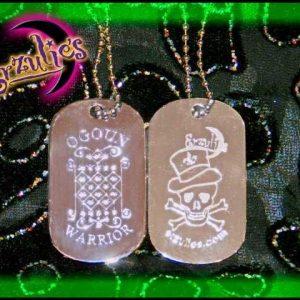 "Voodoo Veve Jewelry ~ Voodoo ""Bling"" Dogtags"