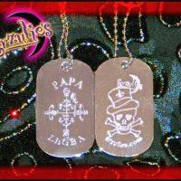 "Voodoo Veve Jewelry ~ Voodoo ""Bling"" Dogtag Jewelry"