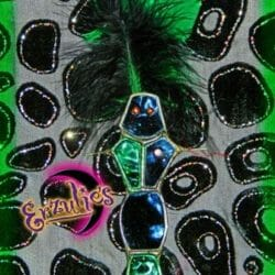 Voodoo Dolls ~ Ogoun Stained Glass Voodoo Dolls